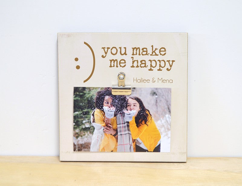 photo frame friendship gift, you make me happy gift for best friend