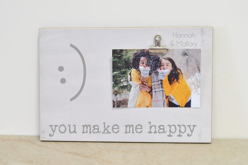 photo frame for best friend, you make me happy, friendship gift