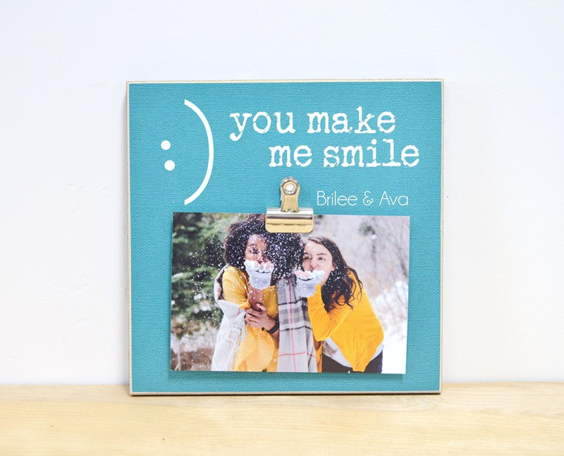 you make me smile photo frame friendship gift for friends