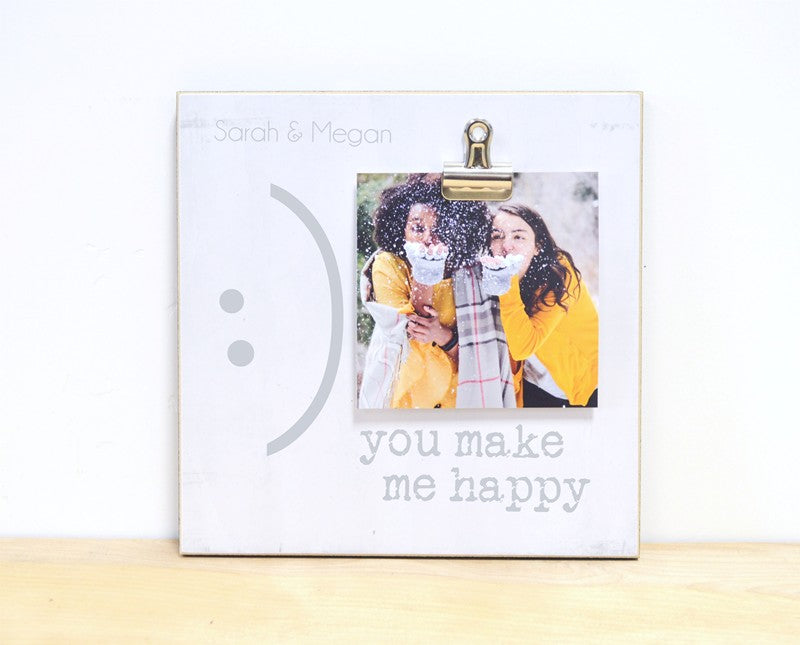 you make me happy photo frame gift for friends