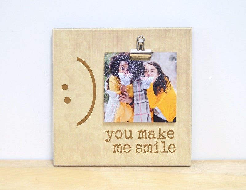 you make me smile friendship photo frame gift for friends