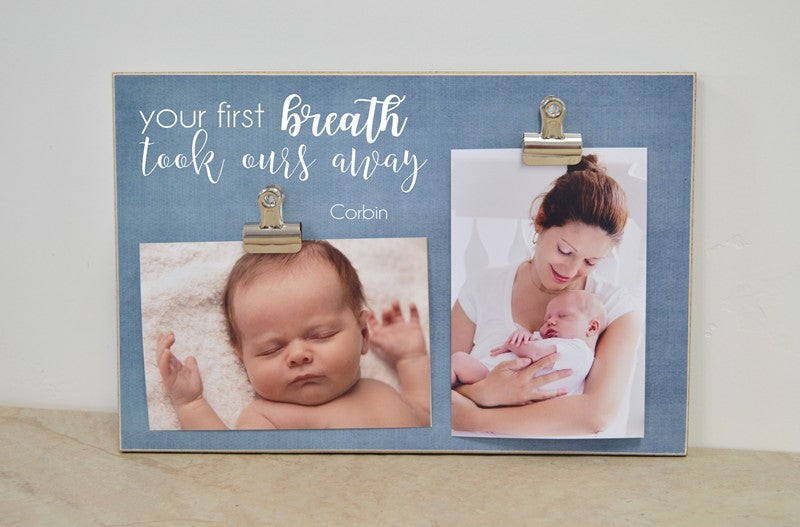 your first breath took ours away baby shower gift for new baby nursery decor