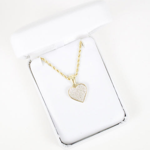 Gold & Diamond Small Heart Charm #1