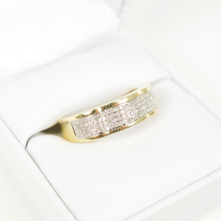 Gold & Diamond Mens Ring #18