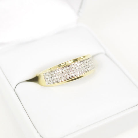 Gold & Diamond Mens Ring #19