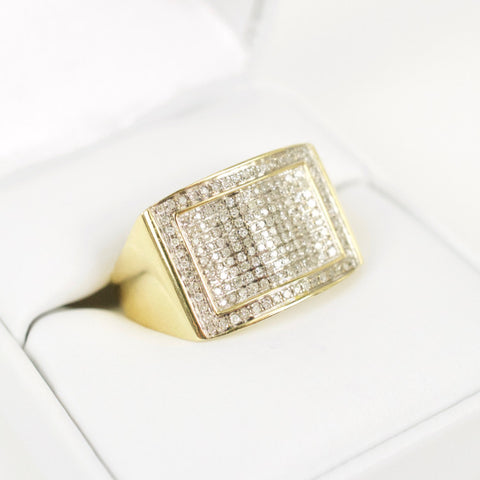 Gold & Diamond Mens Ring #21