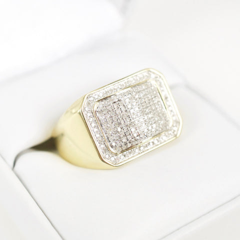 Gold & Diamond Mens Ring #22
