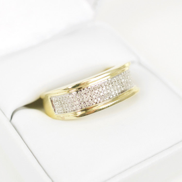Gold & Diamond Mens Ring #23