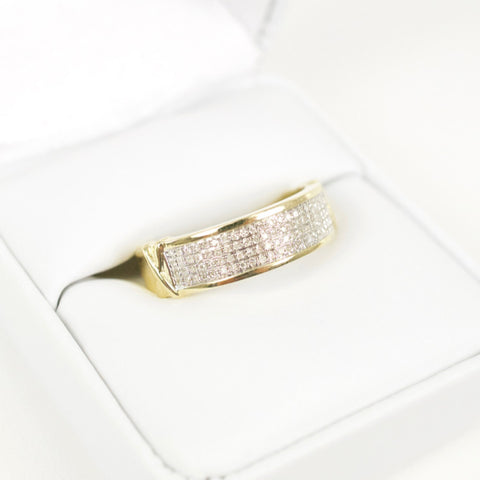 Gold & Diamond Mens Ring #24