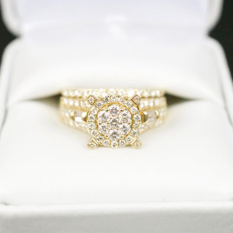 Gold & Diamond Ladies Engagement Set #12
