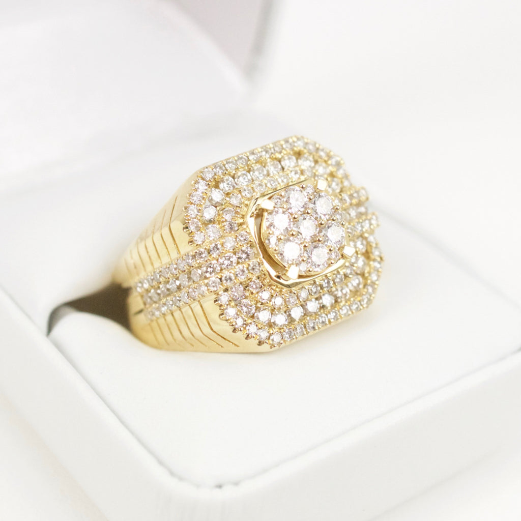Gold & Diamond Mens Ring #27