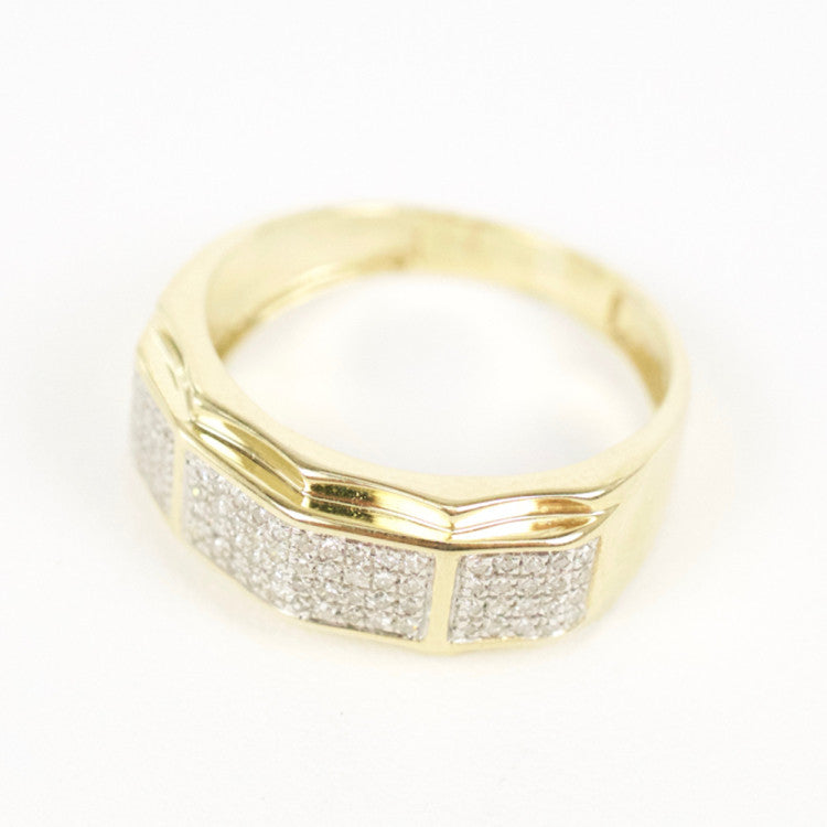 Gold & Diamond Mens Ring #25