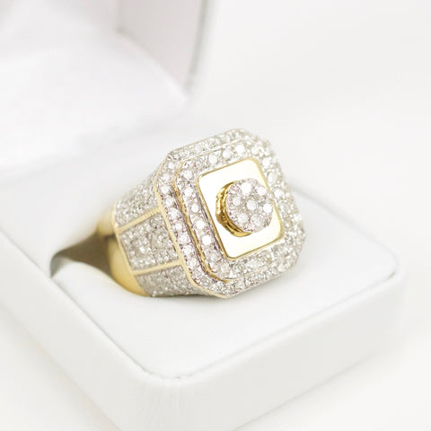 Gold & Diamond Mens Ring #28