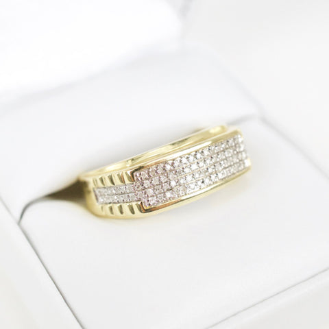 Gold & Diamond Mens Ring #26