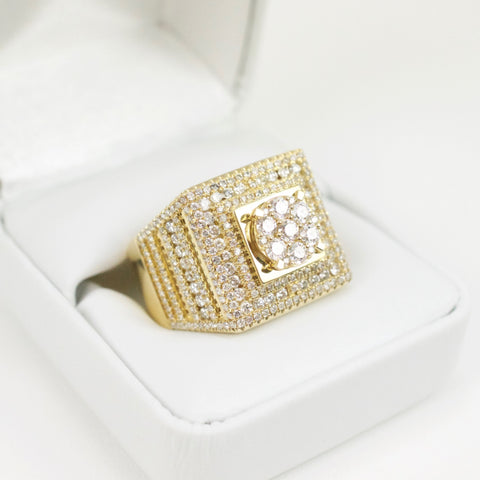 Gold & Diamond Mens Ring #31