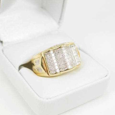 Gold & Diamond Mens Ring #32