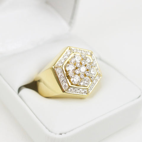 Gold & Diamond Mens Ring #33