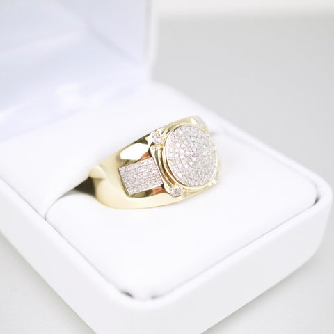 Gold & Diamond Mens Ring #42