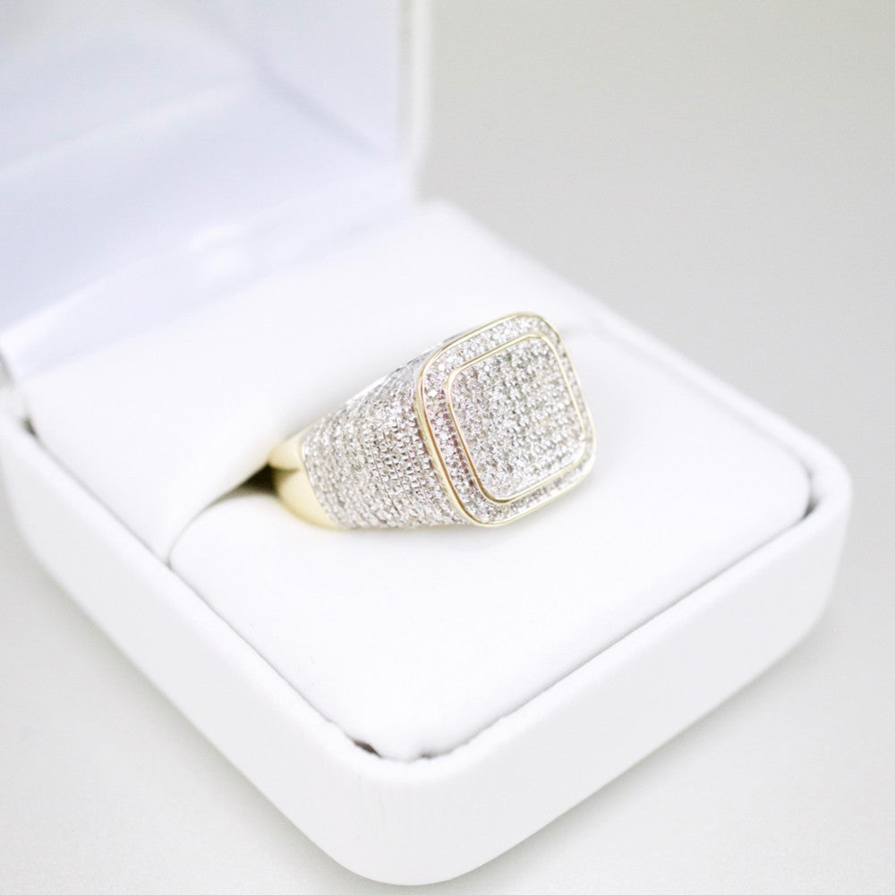 Gold & Diamond Mens Ring #43