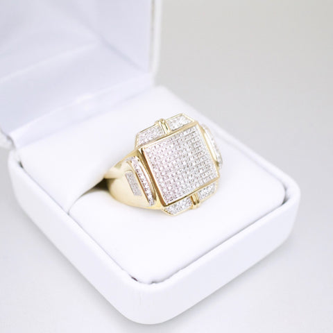 Gold & Diamond Mens Ring #44
