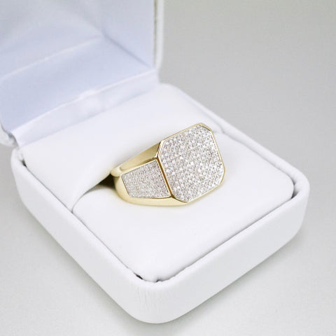 Gold & Diamond Mens Ring #45