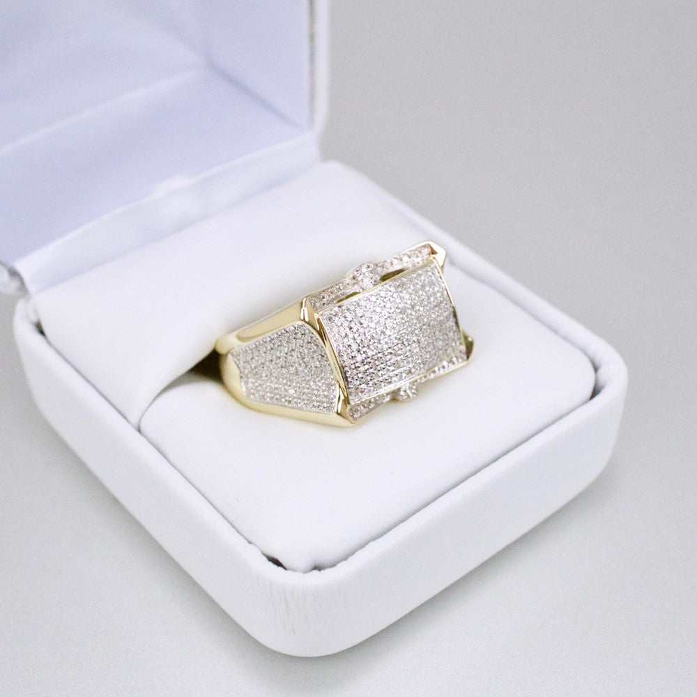 Gold & Diamond Mens Ring #46