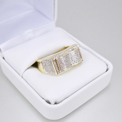 Gold & Diamond Mens Ring #47