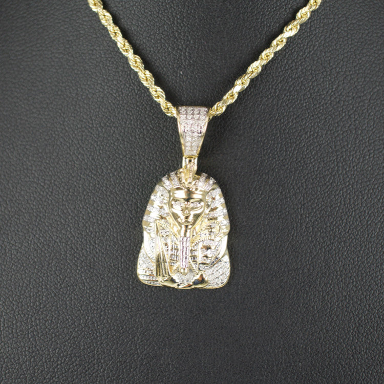 Gold & Diamond Small Egyptian Charm #3