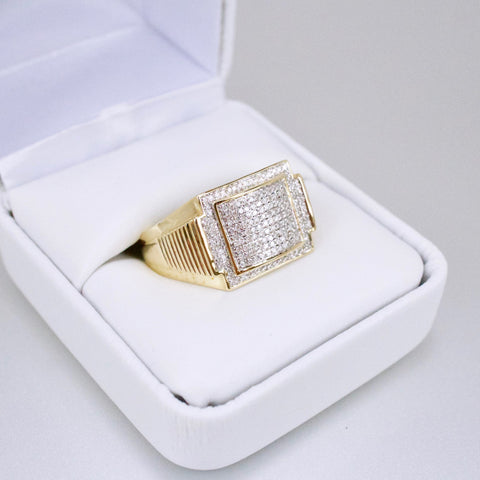 Gold & Diamond Mens Ring #48