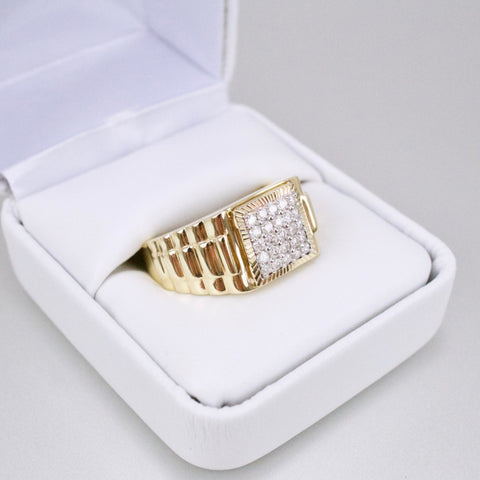Gold & Diamond Mens Ring #49