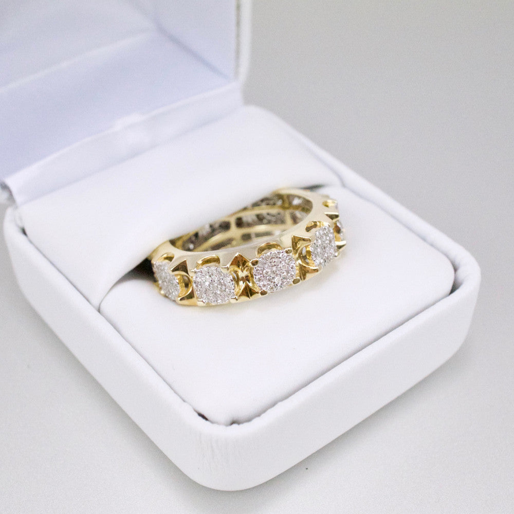 Gold & Diamond Mens Infinity Band #1