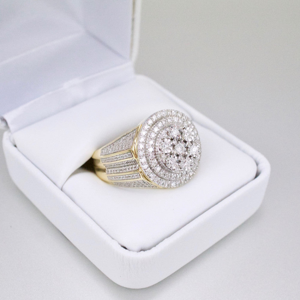 Gold & Diamond Mens Ring #50