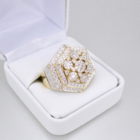 Gold & Diamond Mens Ring #52