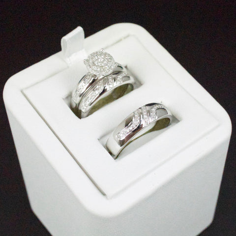 Gold & Diamond Trio Wedding Set #34