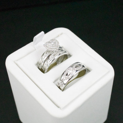 Gold & Diamond Trio Wedding Set #49