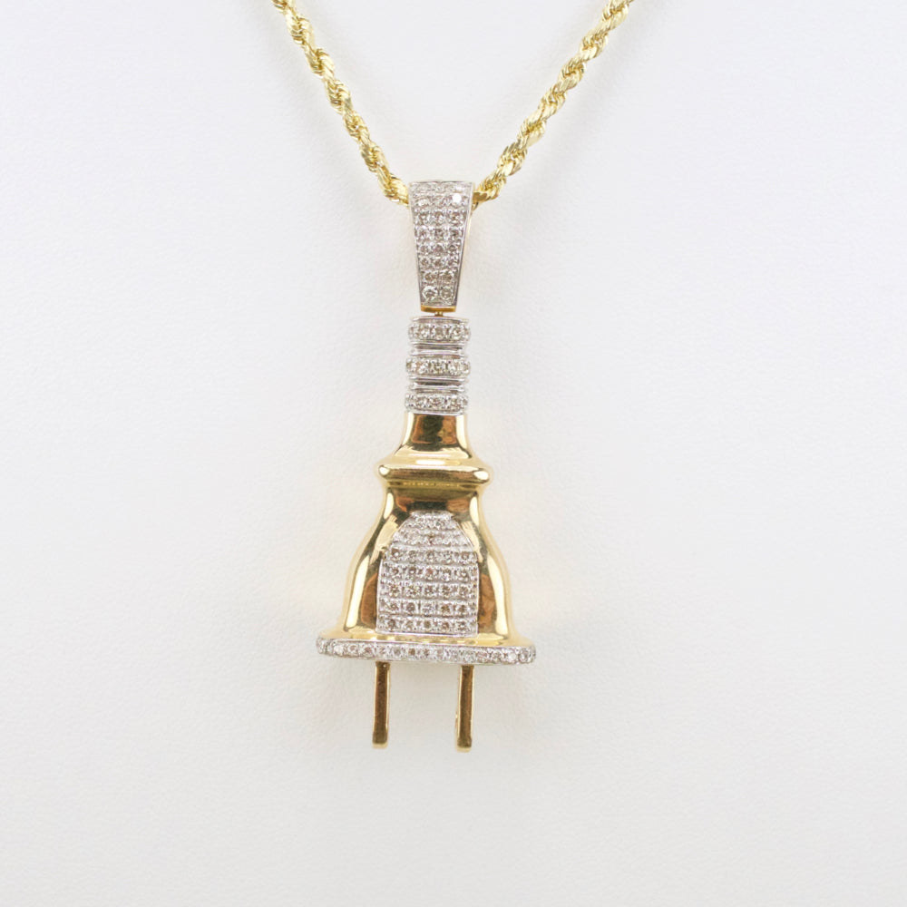 Gold & Diamond Medium Plug Charm #2