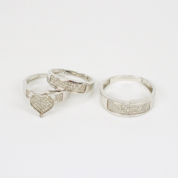 Gold & Diamond Trio Wedding Set #19