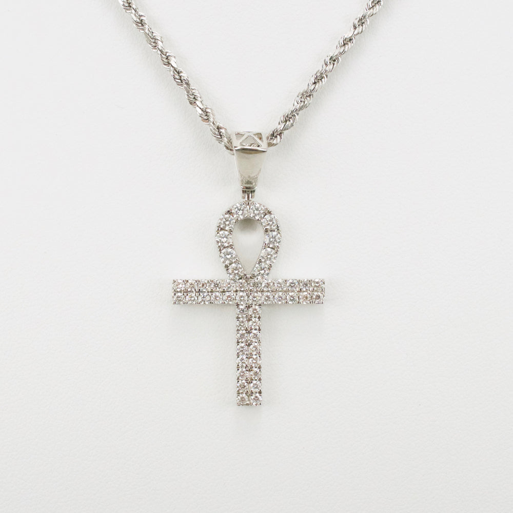 Gold & Diamond Small Cross Charm #19