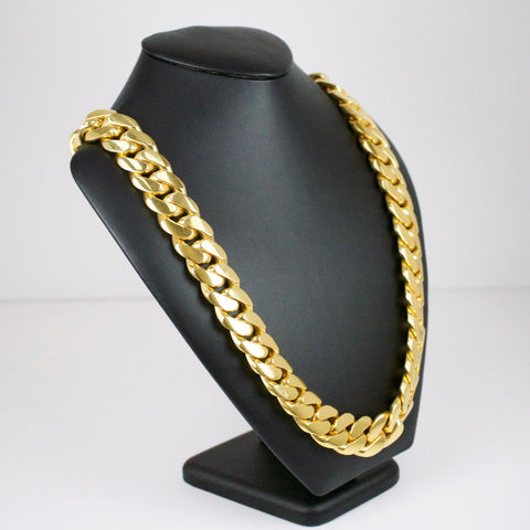 Yellow Gold Kilo Cuban Link Chain