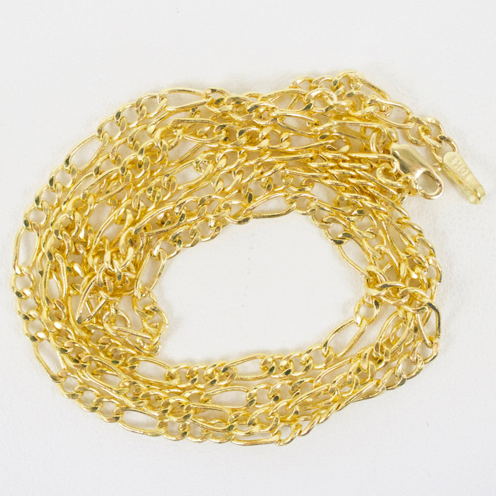 Gold 2.5mm Figaro Chain