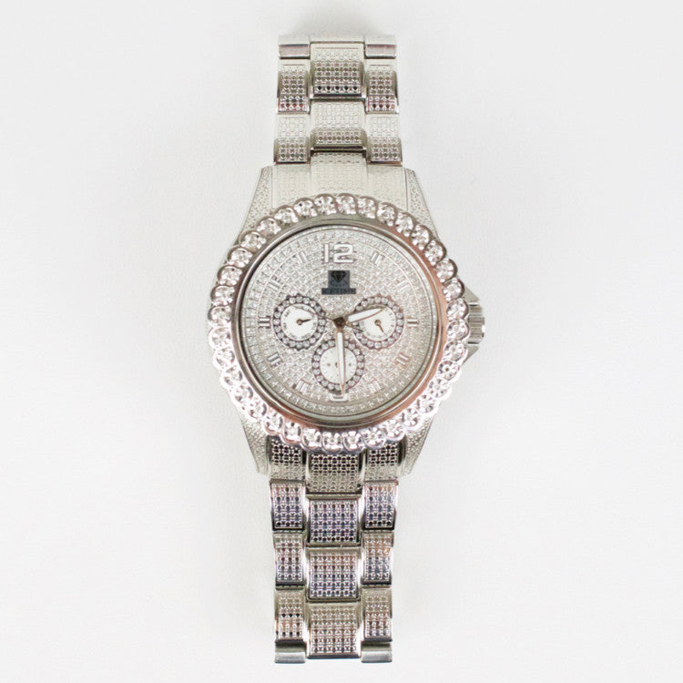 Mens Diamond Icetime Bling Watch