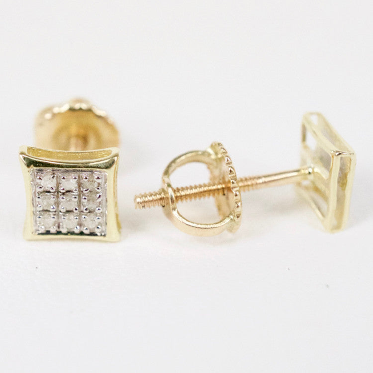 Gold & Diamond Baby Flat Kite Earrings