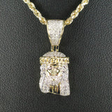 Gold & Diamond Small Jesus Charm #1