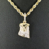 Gold & Diamond Baby Jesus Piece Charm