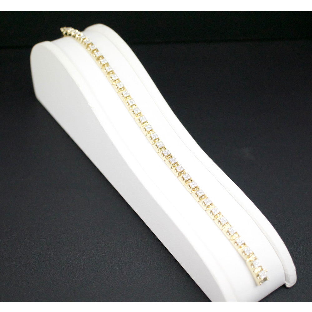 Gold & Diamond Mens Bracelet #1