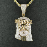 Gold & Diamond Medium Jesus Charm #1