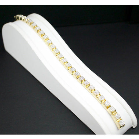 Gold & Diamond Mens Bracelet #2
