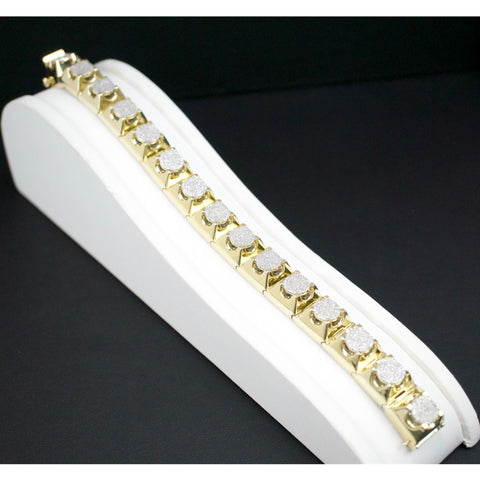 Gold & Diamond Mens Bracelet #3