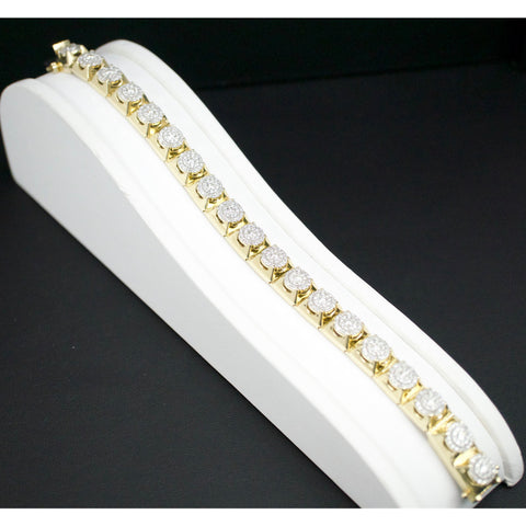 Gold & Diamond Mens Bracelet #4