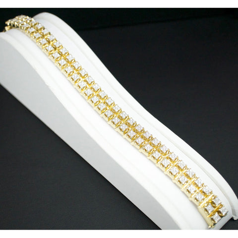 Gold & Diamond Mens Bracelet #5